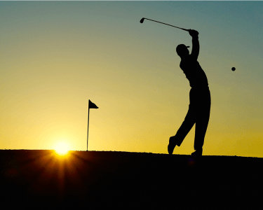 golf-sunset