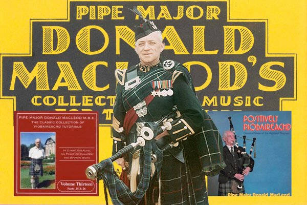 Pipe Major Donald MacLeod, M.B.E.