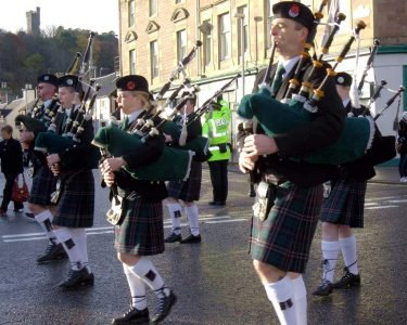 pipe band parade