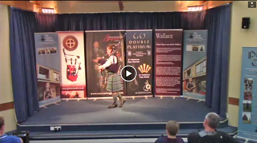 Callum Beaumont at The College of Piping