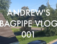 BAGPIPE NEW YEAR IN ALBANY NY - VLOG 1.001