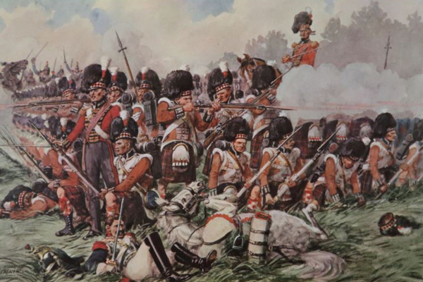 79th Highlanders Square at the Battle of Waterloo