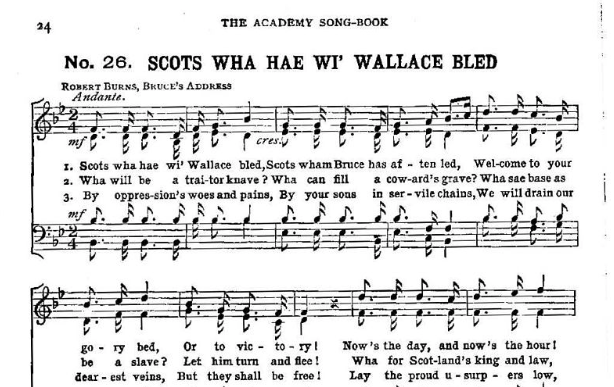 Scot's Wa' Hae - the Unofficial National Anthem?