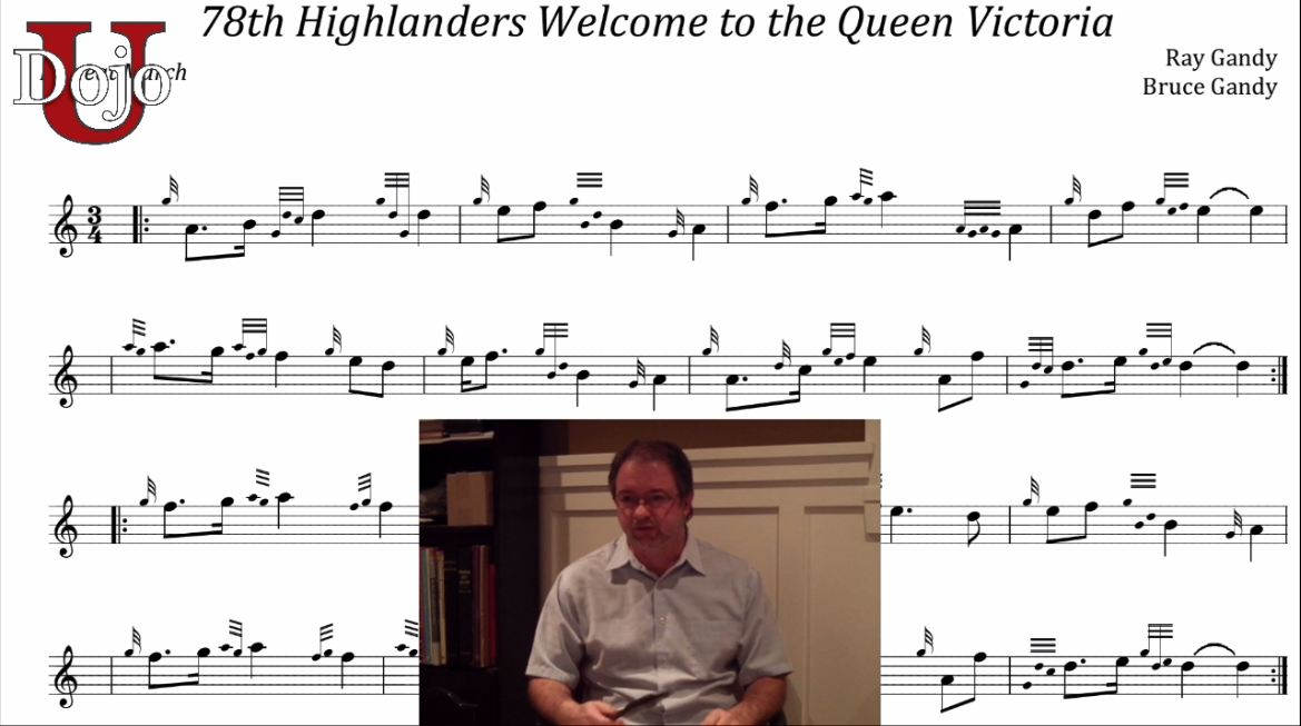 The 78th Highlanders Welcome to Queen Victoria (with Bruce Gandy)